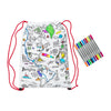 world map print backpack