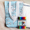 washable school bag world map print