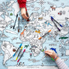world map colouring activity