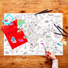 map themed craft activity
