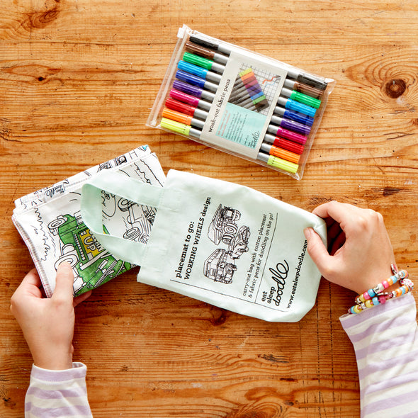 kids colouring activity on the go