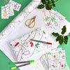 colour-in festive activity