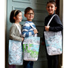 eatsleepdoodle colour & carry tote shopper school bags