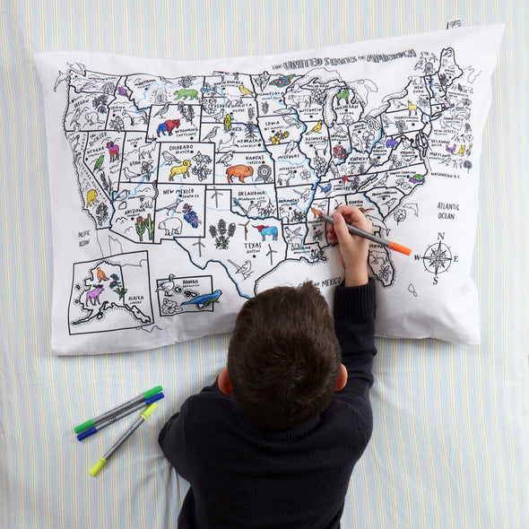 united states of america colouring learning activity