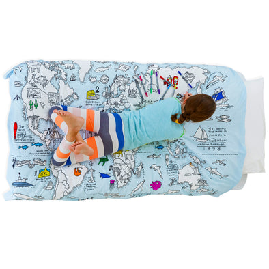 kids bedding world map duvet