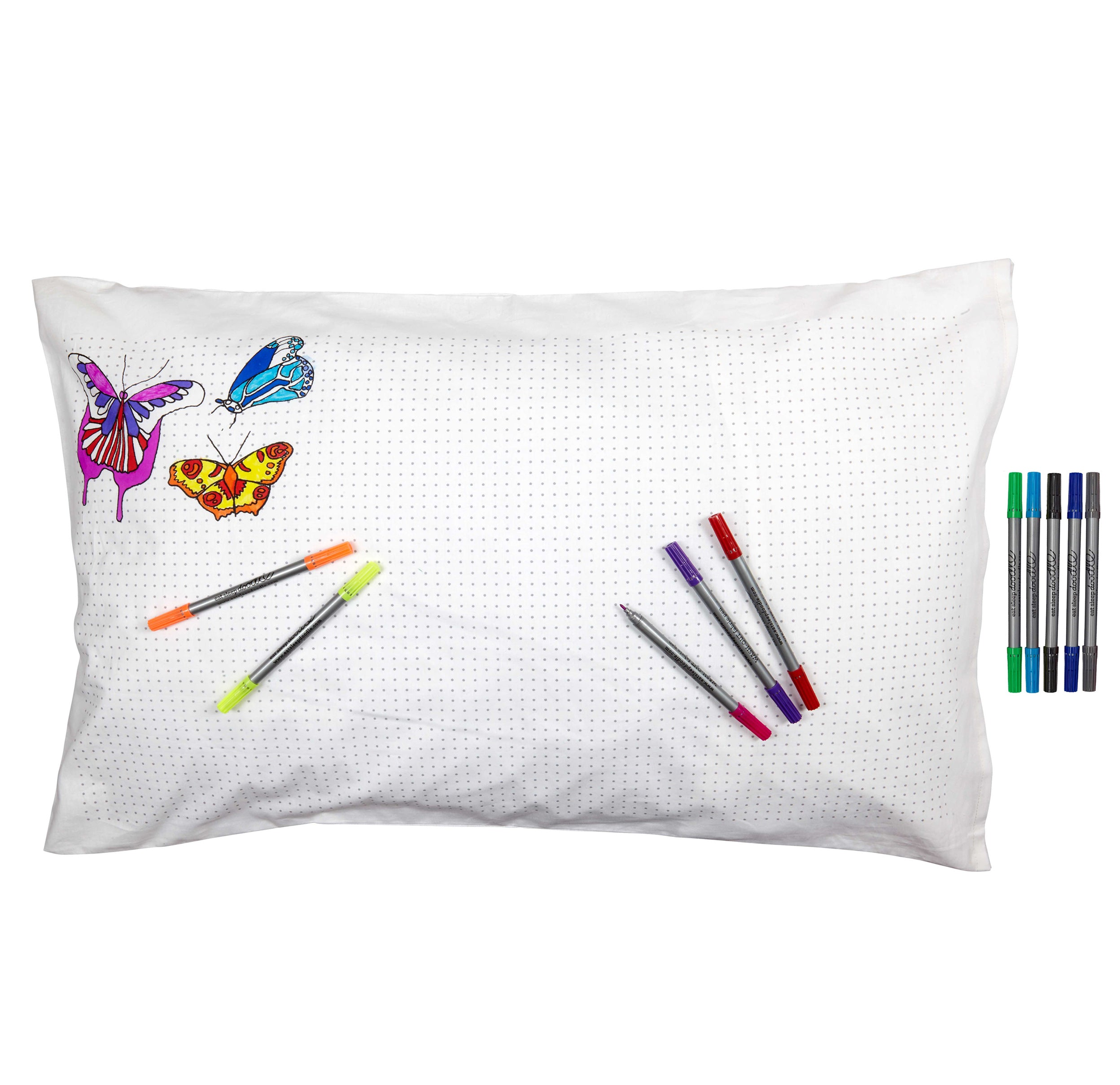 butterfly pillowcase colour in