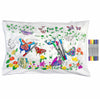 colour in butterfly pillowcase