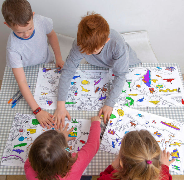 personalised map for kids