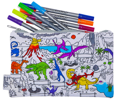 dinosaur pencil case - party pack of 10