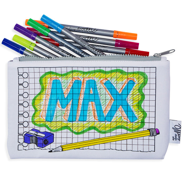 doodle pencil case - party pack of 10