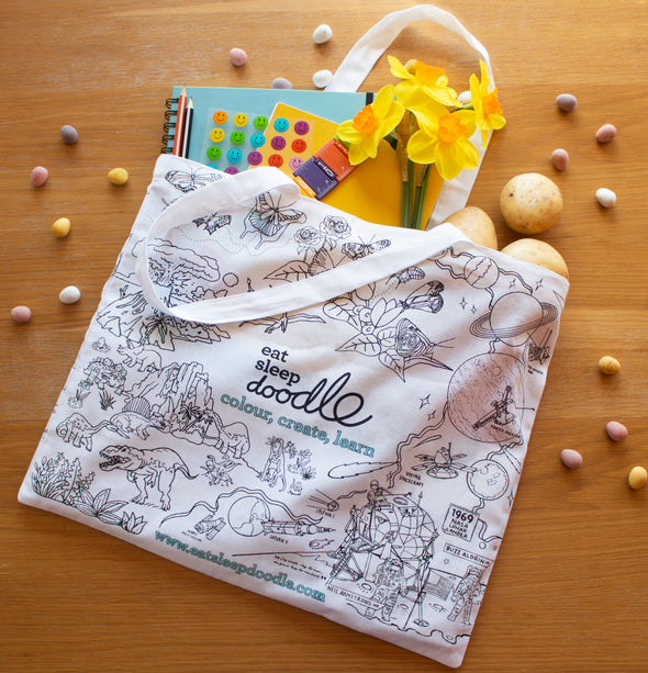 eatsleepdoodle cotton gift bag