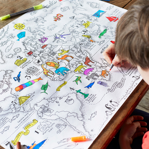 fun learning colouring activity for kids