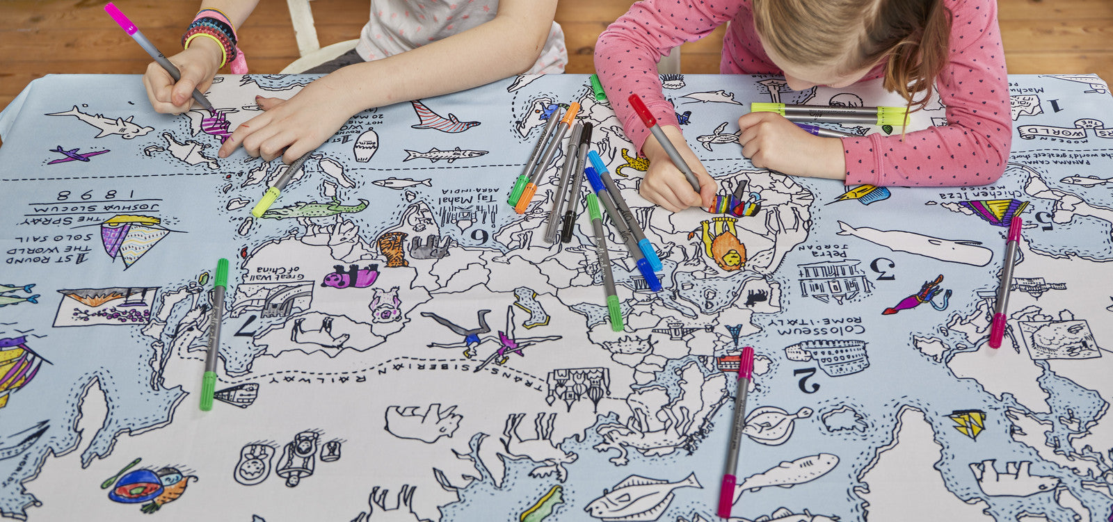 the world map tablecloth