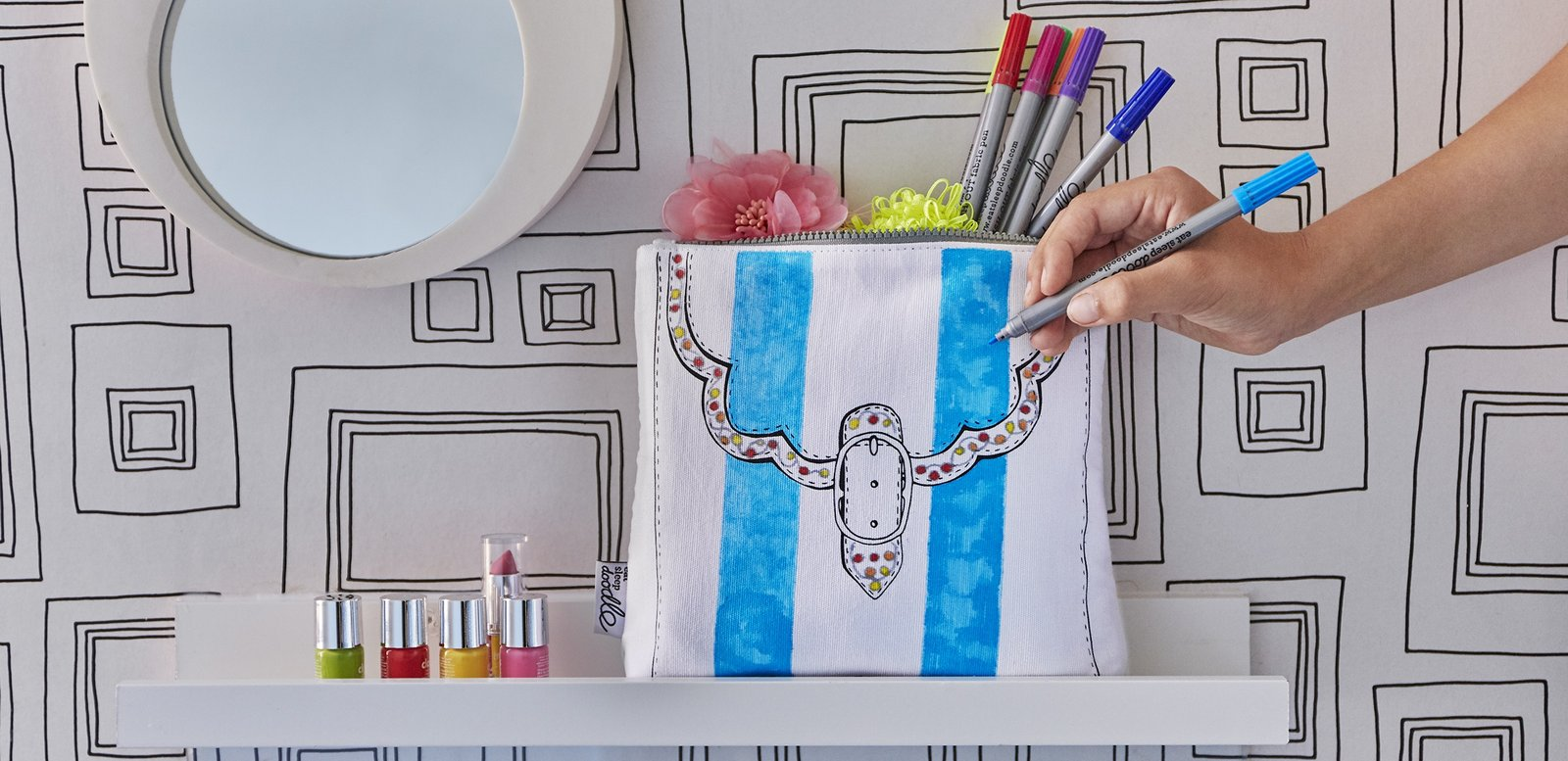 the doodle notebook pillowcase