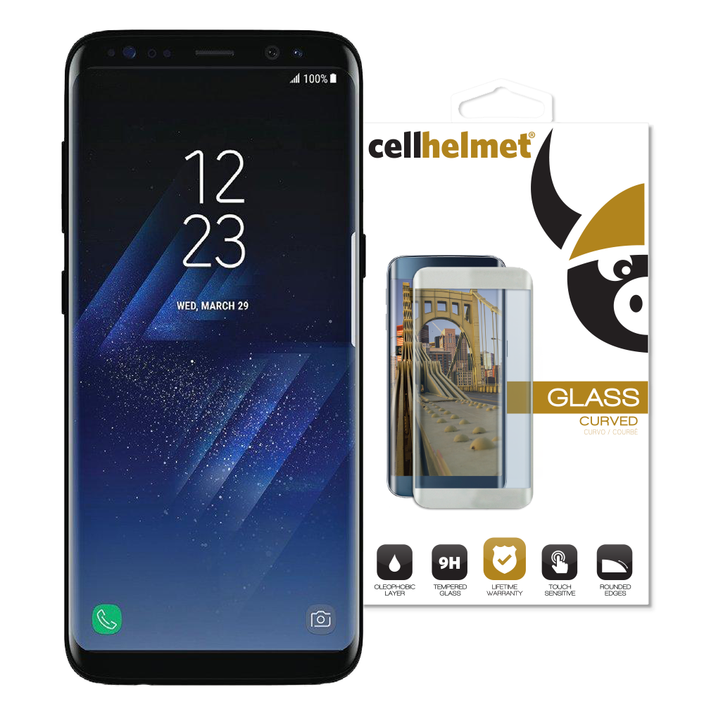 low priced 86aa1 6a258 Samsung Galaxy S8 3D Curved Tempered Glass (black - case friendly)
