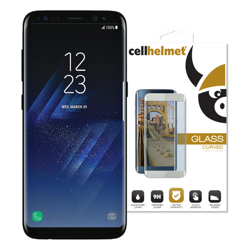 Samsung Galaxy S8 3d Curved Tempered Glass Black Case