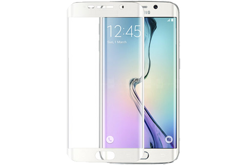 White Wholesale Curved Galaxy S6 Edge + Tempered Glass by cellhelmet