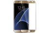Gold Galaxy S7 Edge Case Friendly Tempered Glass by cellhelmet
