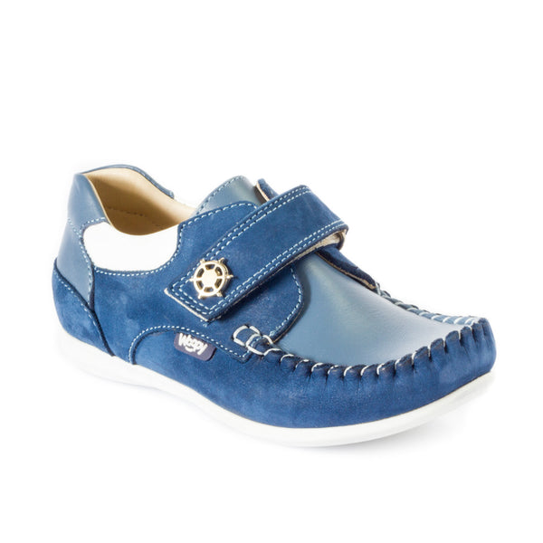 ALEXANDER BLUE toddler boys' moccasins
