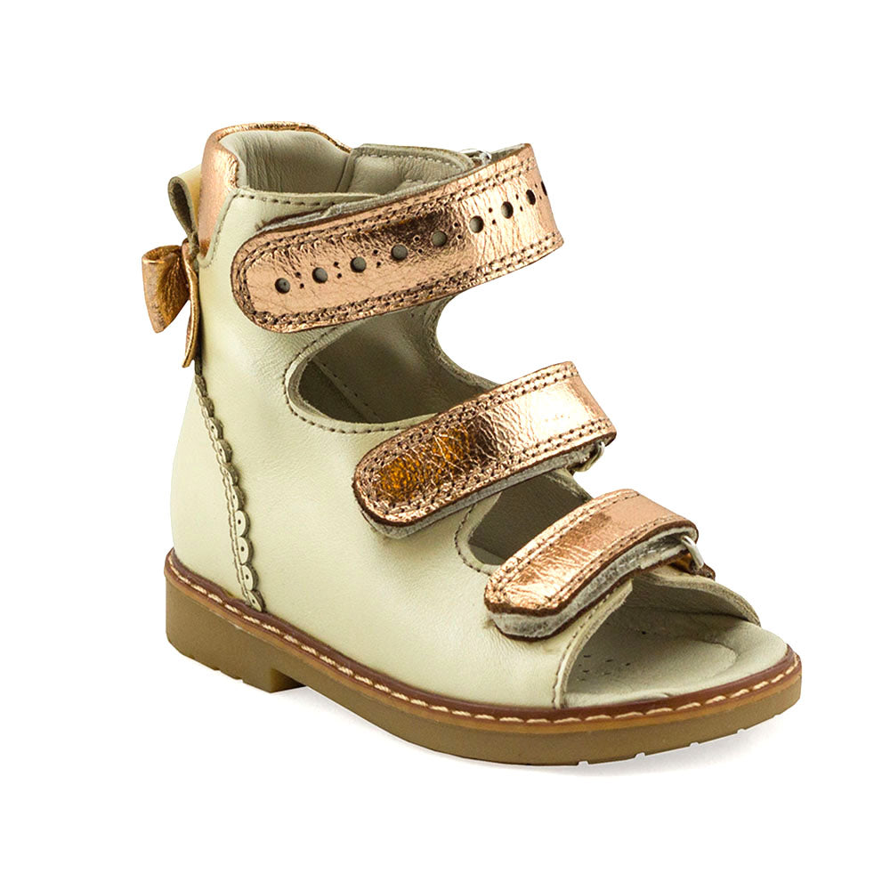 Hero Image for EVELYN CROWN gold orthopaedic high-top sandals