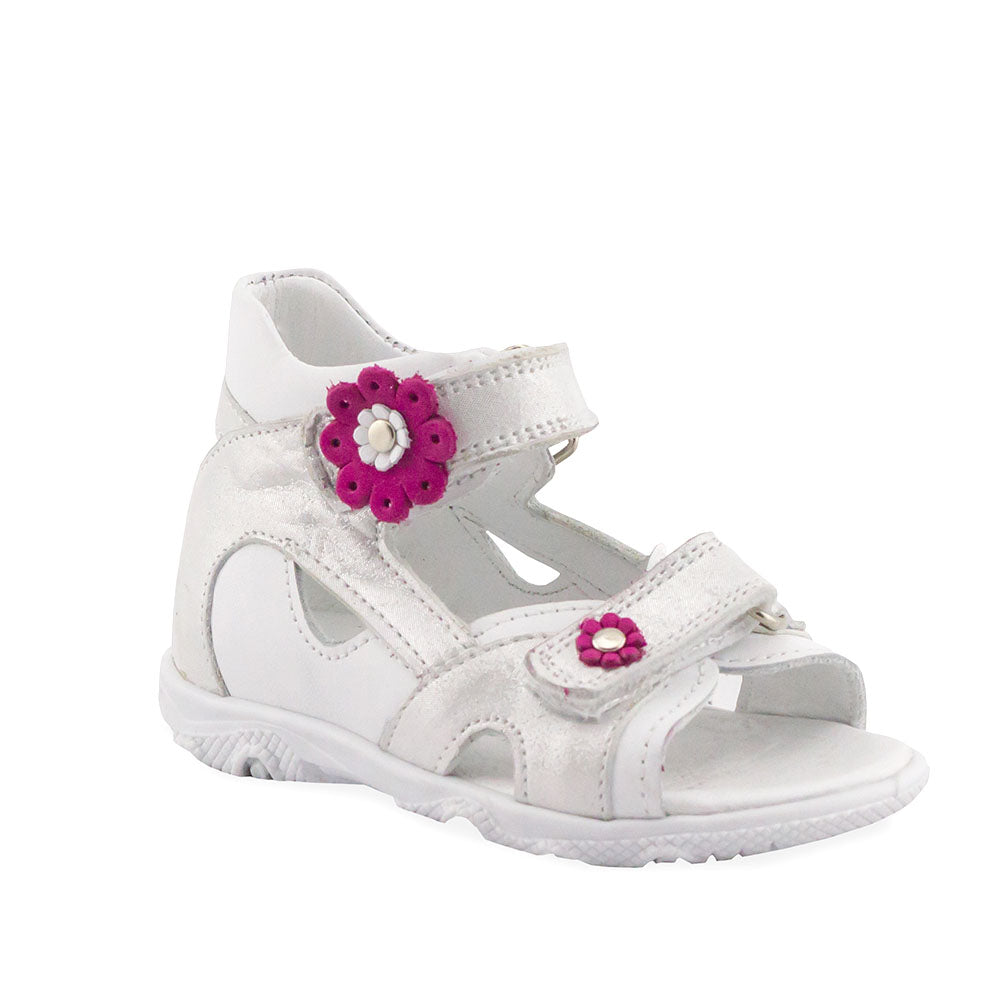 Hero Image for SNOWY HAILEY white and silver orthopaedic sport sandals