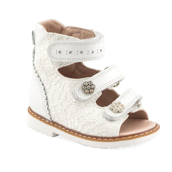 Hero Image for PRECIOUS NORA white orthopaedic high-top sandals