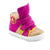 Hero Image for KATY BERRY gold and raspberry high-top sneakers