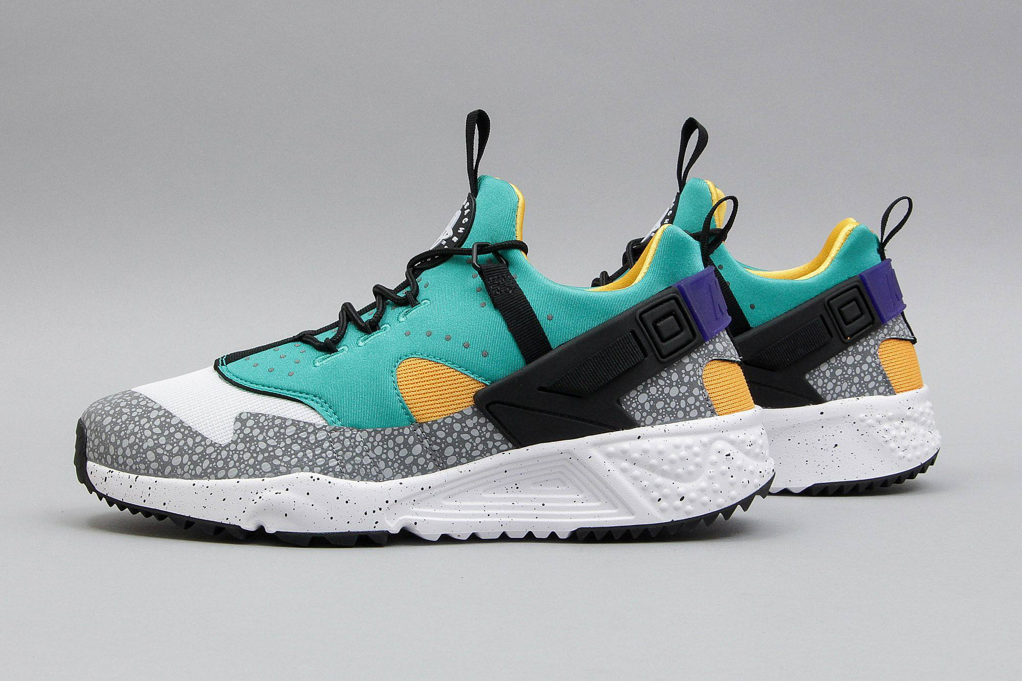 womens nike huarache utility yellow red