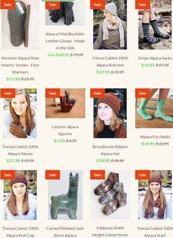 alpaca products sale