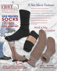 Superwarm alpaca socks features