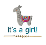 its a girl alpaca embroidery