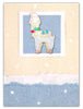 Whimsical Christmas Alpaca Pin Greeting Card
