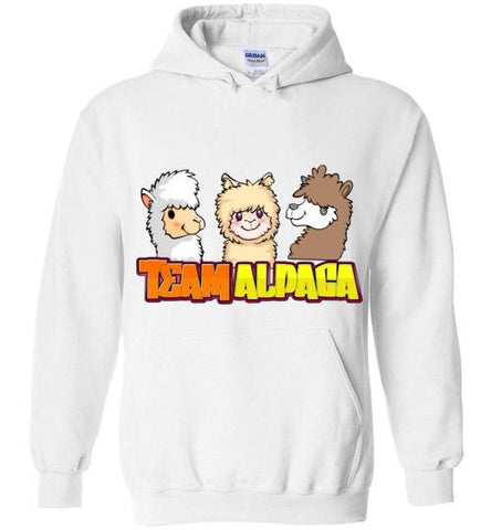 t-shirt: Team Alpaca Gildan Heavy Hoodie FUN Purely Alpaca White S