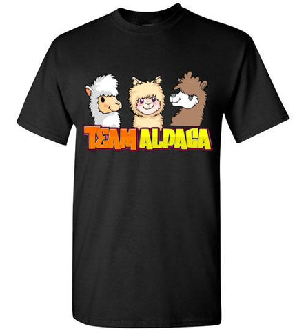 t-shirt: Team Alpaca Gildan Short-Sleve Purely Alpaca Black S