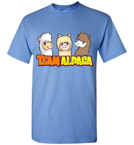 t-shirt: Team Alpaca Gildan Short-Sleve Purely Alpaca Carolina Blue S