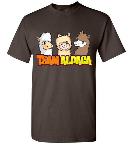 t-shirt: Team Alpaca Gildan Short-Sleve Purely Alpaca Dark Chocolate S