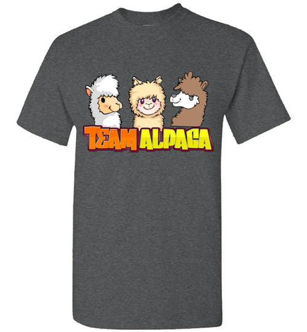 t-shirt: Team Alpaca Gildan Short-Sleve Purely Alpaca Dark Heather S