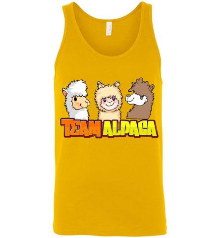 t-shirt: Team Alpaca Canvas Unisex Tank Purely Alpaca Gold S