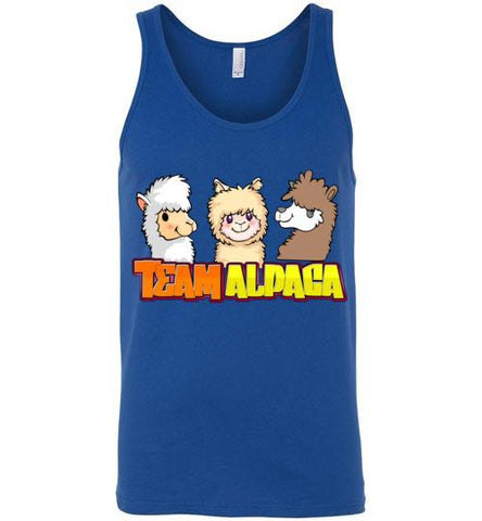 t-shirt: Team Alpaca Canvas Unisex Tank Purely Alpaca True Royal S