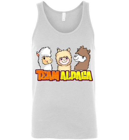 t-shirt: Team Alpaca Canvas Unisex Tank Purely Alpaca White S