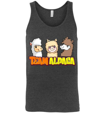 t-shirt: Team Alpaca Canvas Unisex Tank Purely Alpaca Dark Grey Heather S