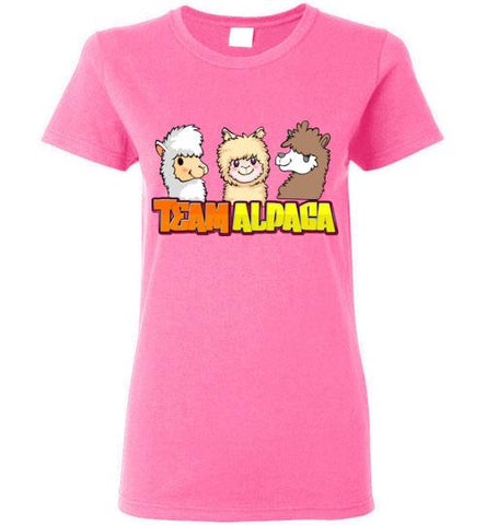 t-shirt: Team Alpaca Gildan Ladies Short-Sleve Purely Alpaca Azalea S