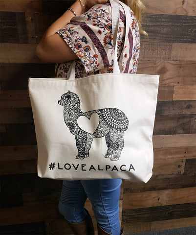 MANDALA LOVE Alpaca Shoulder Tote Bag