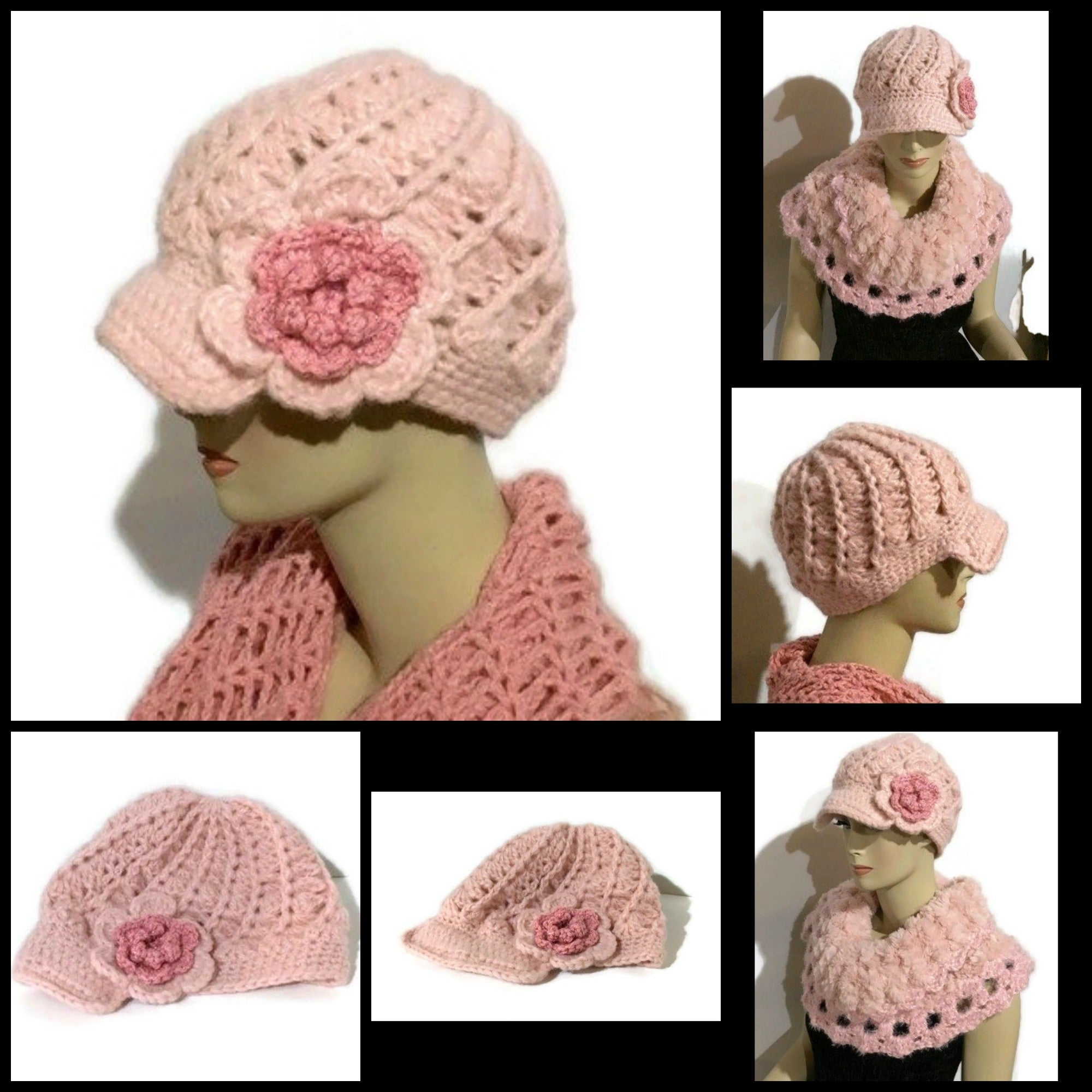 The Crochet Pink Alpaca Hat