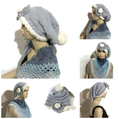 THE SILVER BLUE ALPACA HAT