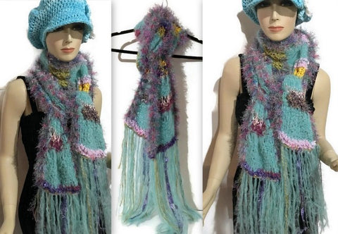 THE AQUA CLOUD SCARF - Purely Alpaca