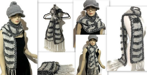 THE SHADES OF GRAY SCARF