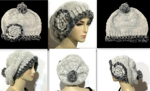 THE SLOUCHY SILVER ALPACA HAT - Purely Alpaca