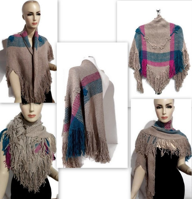 THE BEIGE ROSES SHAWL