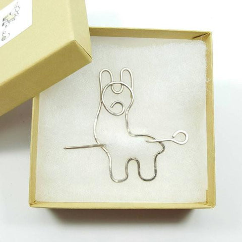 Adorable Alpaca Shawl Pin - Purely Alpaca